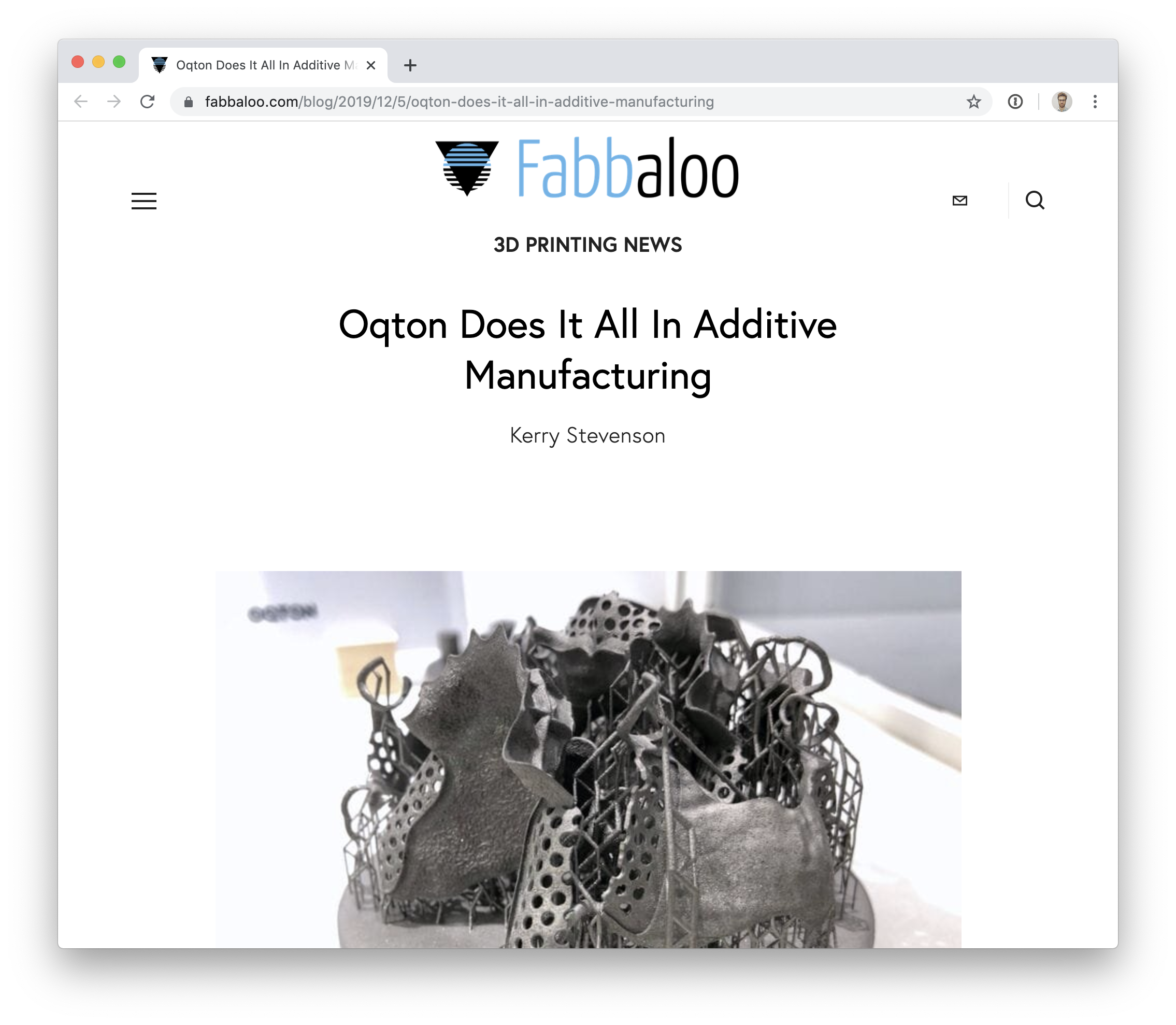 Fabbaloo article